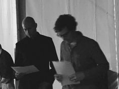 Above: Mark and Benedict about to go on-stage.