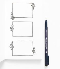 I created these doodles for the new website. Can you spot them in use? So in love with the way it turned out! And love having a personal… Bullet Journal Boxes, Bullet Journal Inspiration, Filofax, Bujo Doodles, Doodle Frames, Diy Notebook, Journal Aesthetic, Banner, Blog