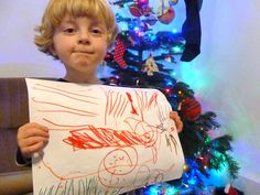 a cwtch and a cuppa. christmas drawing. #kid's #art #drawing #rudolph #sleigh #jinglebells