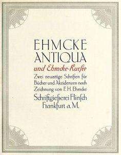 Ehmcke Antiqua Typeface | Flickr - Fotosharing!