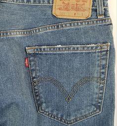 8d2f1ad4c9ffa Levis 559 Denim Jeans Relaxed Straight Leg 36 x 32 Faded Medium Blue 100%  Cotton