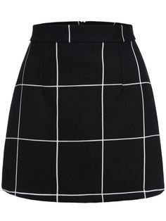 SheIn offers Black Plaid Mini Skirt & more to fit your fashionable needs.