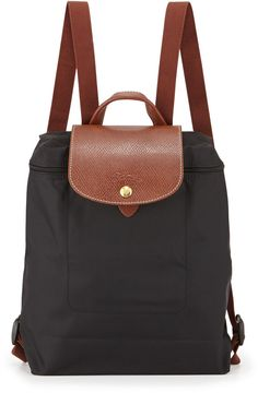 Longchamp Le Pliage Nylon Backpack, Black