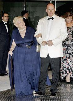 Prince Albert II of Monaco with his Aunt Princess Antoinette of Monaco, Baroness de Massy, 2006