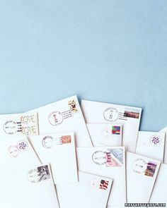 Hand-Canceling - Remember to do this! Take invitations to the post office and request Hand-cancelling so you don't get ugly bar-codes printed on your invitations.
