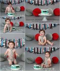 Little man mustache birthday party | Mustache birthday | Mustache cake smash | First Birthday boy ideas | Heather Marshall Photography | Mustache