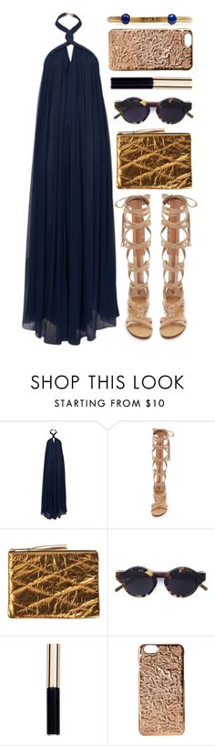 """artemis"" by foundlostme ❤ liked on Polyvore featuring Jay Ahr, Sigerson Morrison, Lanvin, Kuboraum, Marc Jacobs, Ela Stone, maxidress and halterdresses"