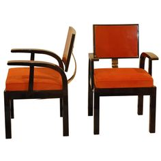 1930's Hungarian Modernist arm chairs