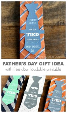 FATHER'S DAY GIFT IDEA WITH FREE DOWNLOADABLE PRINTABLE via @Taryn {Design, Dining + Diapers}