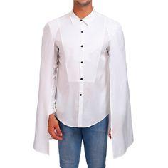 Button Up Solid Color Cloak Shirt - White - - Men's Clothing, Men's Tops & T-Shirts, Men's Shirts # # Shorts Casual, Casual Tops, Casual Shirts, Mens Shirts Online, Fall Shirts, Men's Shirts, Slim Fit Dresses, Cloak, Shirt Style