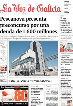 Los Titulares y Portadas de Noticias Destacadas Españolas del 2 de Marzo de 2013 del Diario La Voz de Galicia ¿Que le parecio esta Portada de este Diario Español?