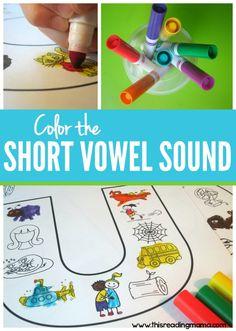 Color the Short Vowel Sound