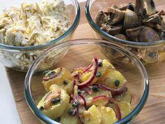 Fransk potatissallad Raw Food Recipes, Potato Salad, Vegetarian, Eat, Ethnic Recipes, Raw Recipes