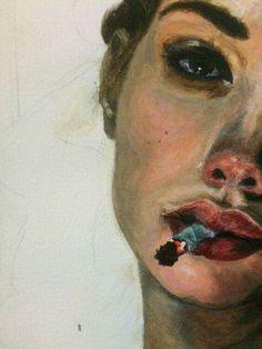 don't even smoke anymore, but I like to smoke art . - Views - -I don't even smoke anymore, but I like to smoke art . Smoke Art, Simple Acrylic Paintings, Art Paintings, Arte Sketchbook, Beginner Painting, Art Drawings Sketches, Portrait Art, Aesthetic Art, Aesthetic Painting