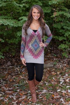 The Pink Lily Boutique - Totally Tribal Hoodie, $38.00 (http://www.thepinklilyboutique.com/totally-tribal-hoodie/)