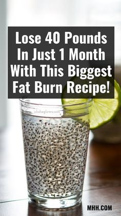 Lose 40 Pounds In Just 1 Month With This Biggest Fat Burn Recipe! fat burning detox drinks Lose 40 Pounds In Just 1 Month With This Biggest Fat Burn Recipe! Weight Loss Meals, Weight Loss Drinks, Diet Plans To Lose Weight, Weight Gain, Losing Weight, Weight Loss Smoothies, Rapid Weight Loss, Chia Seed Recipes For Weight Loss, Best Weight Loss