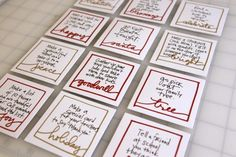 Advent action cards -- love this idea! Encouraging kids to be charitable & think of others is so much more meaningful than giving them toys and candy every day...