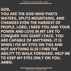 21 prayers for fear are a great compilation of prayers to help conquer fear by depending on God. These are prayers for strength to set you free from fear. Prayer Quotes For Strength, Prayers For Strength, Prayer Scriptures, Faith Prayer, God Prayer, Power Of Prayer, Faith In God, Faith Quotes, Frases