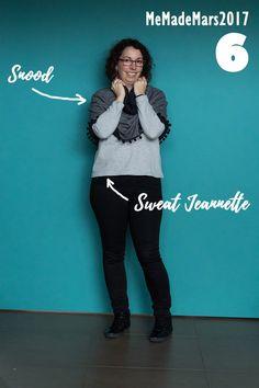 Me made Month Mars 2017, jour 6 : Sweat Jeannette - coudre le stretch de marie poisson et Snood de make my lemonade Mars 2017, Couture, Marie, Blog, How To Make, Fish, Outfit, Blogging, Haute Couture