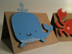These are so cute. I could totally make these with paper for the shower :D not sure how we'd use them though Sea creature Set of 12 Treat bag toppers - Crab - Octopus - Whale - Birthday - Baby shower