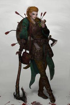viking warrior (personal work), thaumazo 이승윤 _ on ArtStation at https://www.artstation.com/artwork/ZwmeX