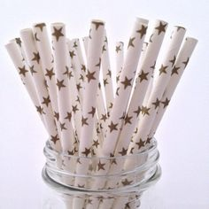 Gold Stars Paper Straws, 25-pack - from category Party Goods (Uniik Stuff)