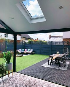Our Modern Conservatory Extension- Before and After Home Renovation Project 5 - Mummy Daddy Me # Garden Room, Backyard Renovations, Garden Room Extensions, Small Garden Design, Backyard Decor, Patio Design, Modern Conservatory, Modern Garden Design, Back Garden Design