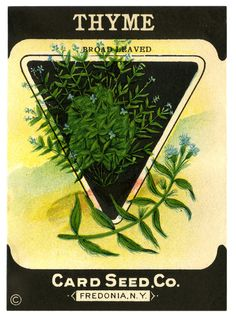 vintage seed packets printable | Amy's Pick: Thyme Seed Packet « The Vintage Workshop Blog: The ...