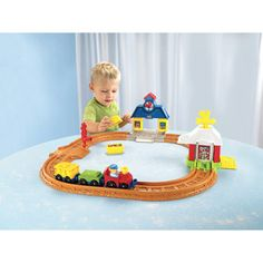 #savethebunnyGP  Fisher-Price Little People Wheelies Connect 'n Play Railway Play Set