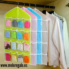 organizer rack Picture - More Detailed Picture about Wholesale 16 Pockets Clear Hanging Bag Socks Bra Underwear Rack Hanger Storage Organizer Rack De Armazenamento Organizer Holder Picture in Storage Holders & Racks from Shenzhen Love Home Wholesale Co. Hanging Closet Organizer, Diy Organizer, Hanging Racks, Hanging Storage, Closet Storage, Closet Organization, Storage Boxes, Bag Storage, Organizing Bags
