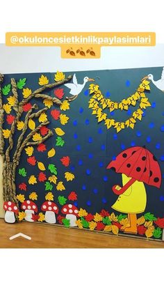 """Képtalálat a következőre: """"őszi dekoráció papírból iskolába"""" Képtalálat a következőre: """"őszi dekoráció papírból iskolába"""" Прикрашаємо школу та садочок до Свята осені: 28 фото-ідей Fall Classroom Decorations, School Board Decoration, Preschool Classroom Decor, Class Decoration, School Decorations, Preschool Rooms, Classroom Displays, Classroom Activities, Classroom Ideas"""