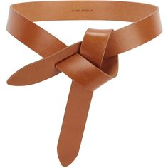 Isabel Marant Étoile Lecce Brown Knotted Leather Belt (£90) ❤ liked on Polyvore featuring accessories, belts, brown belt, leather knot belt, brown leather belt, leather belt and knot belt