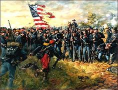 """The First Minnesota"" On July 2, 1863 at Gettysburg Brig. Gen. Camdus Wilcox's Brigade had broken through Sickles' position on Cemetery Ridge. With a failed attempt at rallying Sickles' men, Maj. Gen."