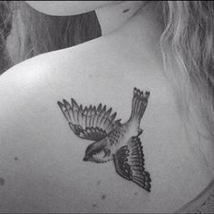 Love sparrow tattoos. Like this placement