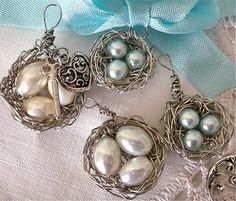 Her Creative Spirit: Wire Nest Charms can be addicting