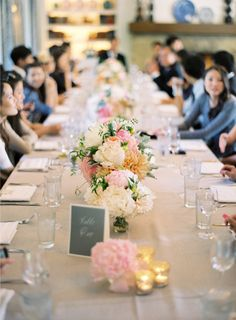 rustic wedding decor - dahlias, peonies | pinks, peaches, ivories