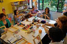 TAPIS | Workshop de MINI-TAPEÇARIA ARTÍSTICA com Nadia Rezende | junho 2016 | Stampa Studio