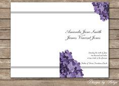 Purple Hydrangea Printable Wedding Program  DIY by RobynDesigns, $25.00