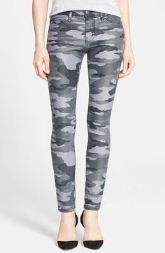 Current/Elliott 'The Ankle Skinny' Coated Camo Skinny Jeans