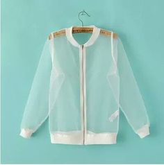 Hipster 2016 Summer women jacket Fashion Sun Proof See-through Mesh Jackets Women Sexy cool Transparent Extra Thin Organza Coat