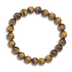 Tiger's Eye Bead Stretch Bracelet – 1Deebrand