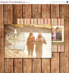 25 Off BLACK FRIDAY SALE Christmas Photo Card by BettyLuDesigns, $11.24