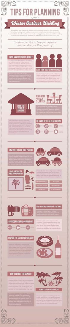 Winter Wedding Infographic by Bianca Iacopelli, via Behance