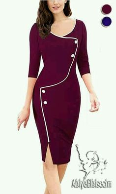 online shopping for HOMEYEE Women's Retro Sleeve Formal Evening Cocktail Pencil Dress from top store. See new offer for HOMEYEE Women's Retro Sleeve Formal Evening Cocktail Pencil Dress Cheap Dresses, Elegant Dresses, Cute Dresses, Beautiful Dresses, Vintage Dresses, Dresses For Work, Mini Dresses, Sexy Dresses, Party Dresses