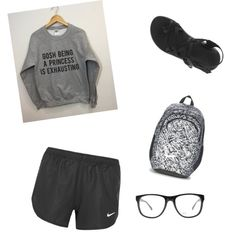 Gosh being a princess is exhausting by kidrxuhll on Polyvore featuring NIKE, Chaco and Armani Exchange