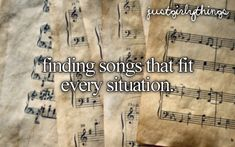 finding songs that fit every situation