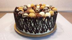 """... ďalšia z variant zdobenia dobošky kokosovými guličkami a čokoládovou ,,bordúrou"""""""
