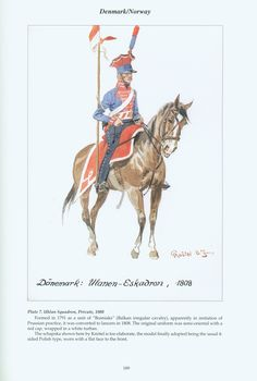 Denmark & Norway: Plate 7. Uhlan Squadron, Private, 1808