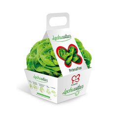 "Primaflor ""LECHUVITAS""  (Lettuce) by Delamata Design. Source: delamatadesign.com #packaging #design #structural"