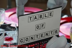 Scrabble table marker